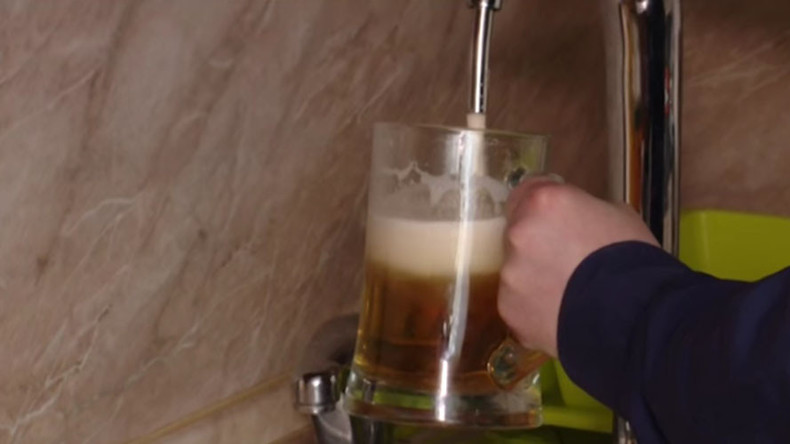 On tap: Man builds beer pipeline from local brewery to kitchen (VIDEO)