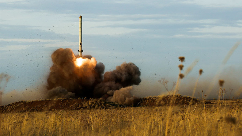 Bunker reduced to smoking hole from 200km: Russia shows Iskander missile launch (VIDEO)