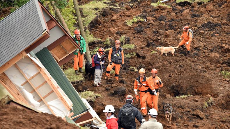 Several aftershocks hit Kumamoto prefecture, Japan