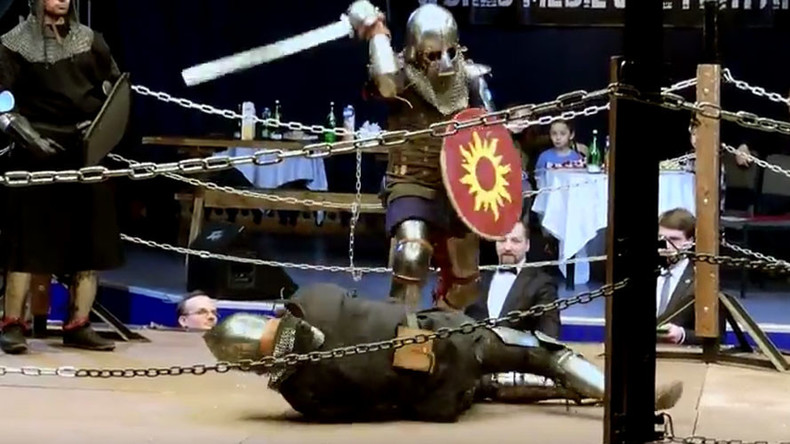 Watch 360 video of Russians in full medieval armor battering each other