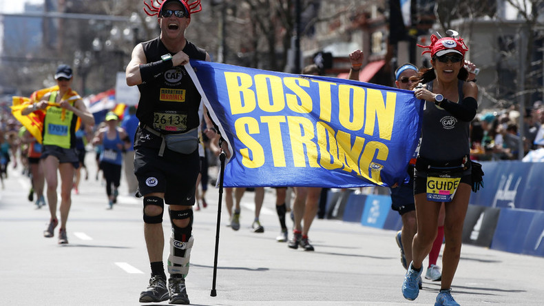 Spirit of Boston shines during 120th marathon as bombing victims remembered