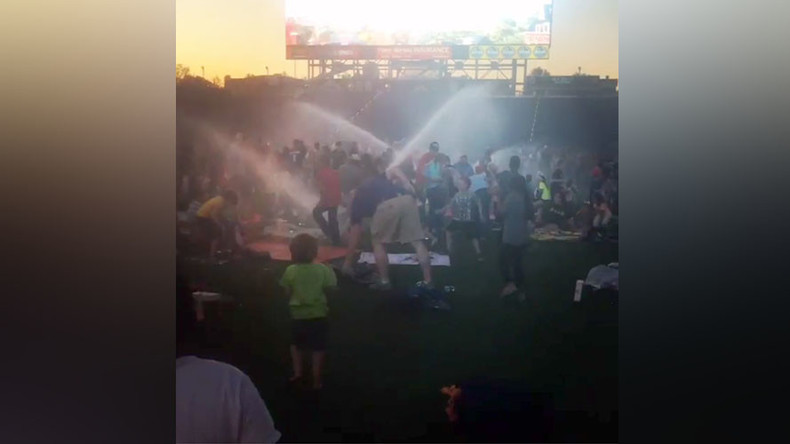 Automatic sprinklers accidentally drench movie goers at water tax-funded Tennessee stadium (VIDEO)