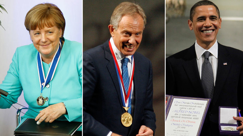 Awarded for WHAT? 5 very awkward int'l prizes as Germany's Merkel honored over EU migrant crisis