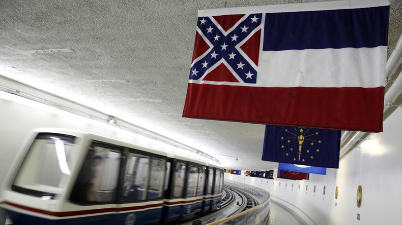 Strike the colors! Mississippi flag forces ALL state banners out of DC subway