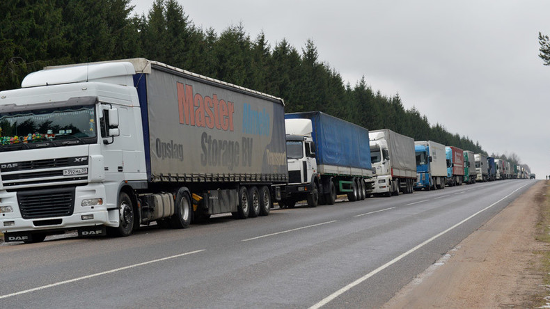 Russia doubles transit fees for foreign trucks