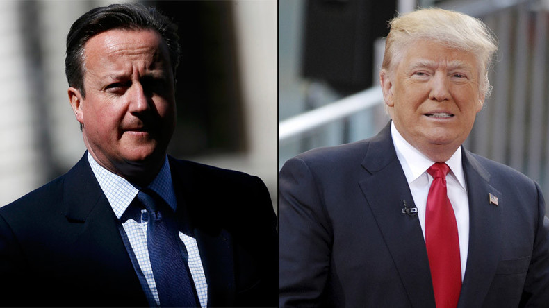 Hedging bets? Cameron leads Trump charm offensive … in case The Donald wins presidency