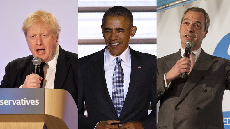 'Part-Kenyan' Obama dislikes Britain for its colonial past, say 'dog whistle racist' Boris & Farage