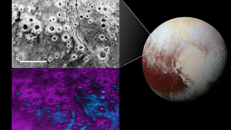 "Cluster of bright ""halo"" craters spotted on Pluto (PHOTO)"