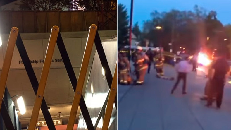 Chaotic evacuation after blast & heavy smoke in Washington, DC metro station