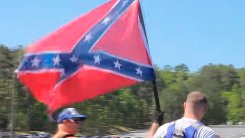 Anti-racism protesters clash with police at Confederate rally in Georgia (VIDEO)