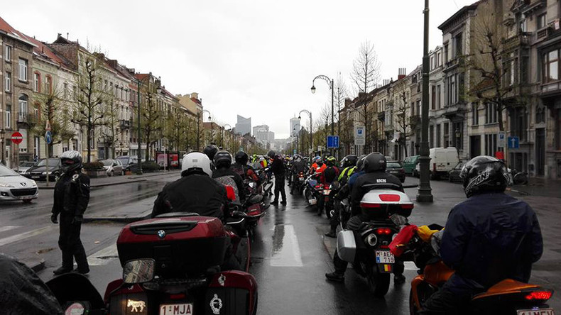 Ride against terror: Belgian bikers' rally pays tribute to Brussels attacks victims