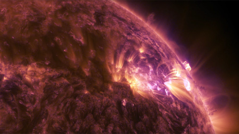 Spectacular views of solar flare released by NASA (VIDEO)