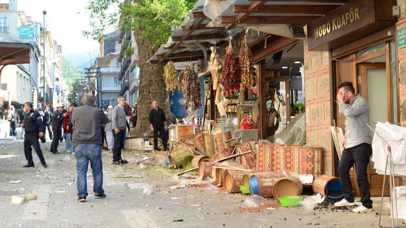 Moment of suicide blast that killed 1, injured 13 in Turkey's Bursa caught on video