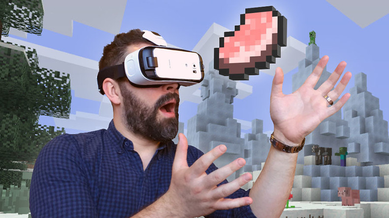 Popular video game Minecraft goes VR