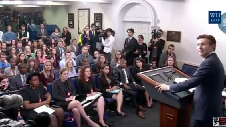 Creepy, mysterious noise interrupts White House event (VIDEO, POLL)