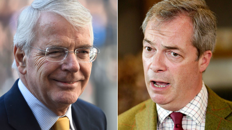 EU referendum: Farage warns on mass immigration, Major suggests Brexiteers go to N. Korea