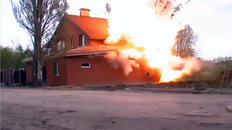Illegal Muslim prayer hall blown up in Russia after police find explosives inside (VIDEO)
