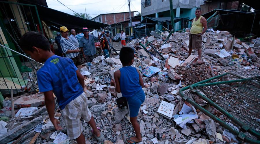 Over 400 casualties, massive destruction in Ecuador struck by 7.8 quake