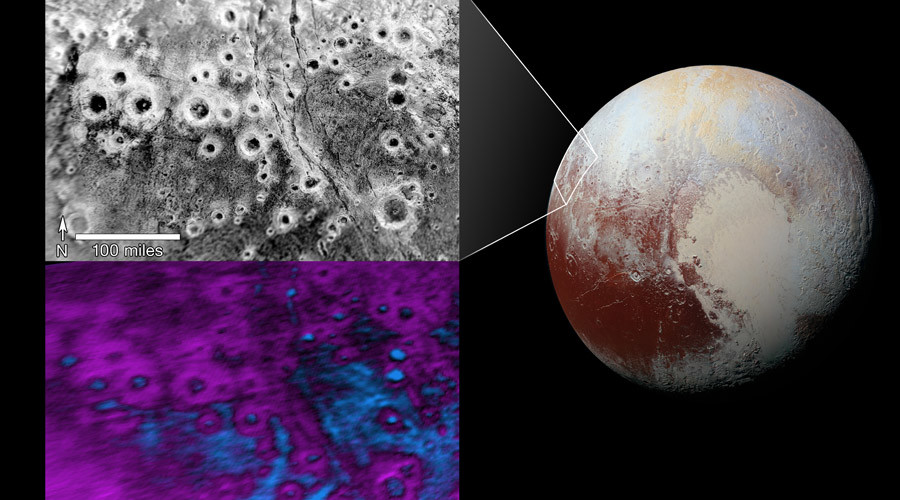 """Cluster of bright """"halo"""" craters spotted on Pluto (PHOTO)"""