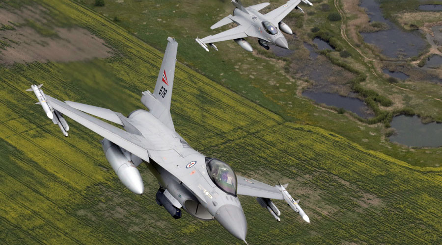 Norwegian F16 jet mistakenly shoots up control tower with officers inside