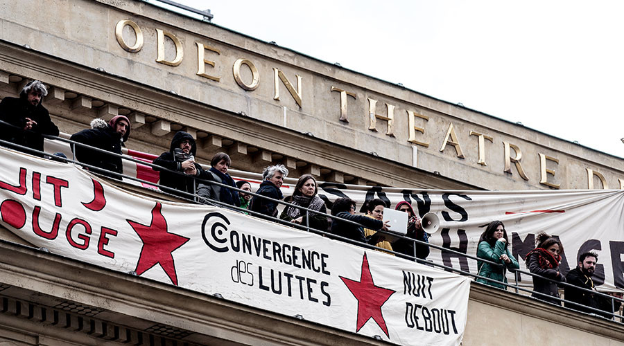 Occupy… the theater: French strikes protest benefit cuts for out-of-work entertainers