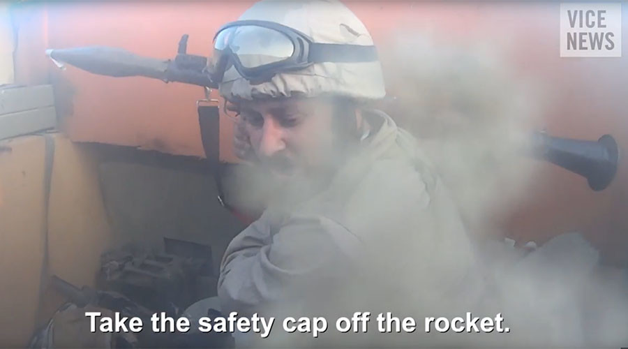 ISIS helmet death cam: Terrorist records own death in chaotic & amateurish battle with Kurds