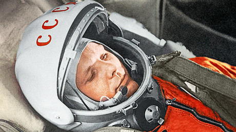 Yuri Gagarin before a space flight aboard the Vostok spacecraft. April 12, 1961 © RIA Novosti