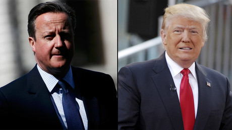Britain's Prime Minister David Cameron and U.S. Republican presidential candidate Donald Trump © Reuters