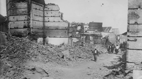 The Armenian quarter after the massacres in Adana in 1909. © Wikipedia