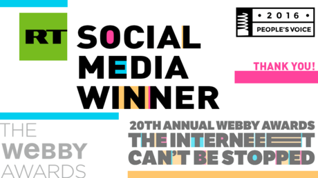 RT social media wins 'People's Voice' at Webbys – the 'Oscars of the web'