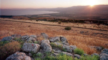 A view from the western section of the Golan Heights. © Reuters