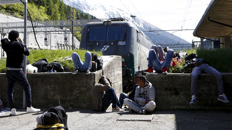 Brenner railway station, northern Italy, May 28, 2015. © Stefano Rellandini