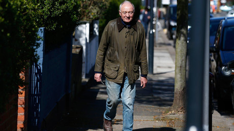 Former London Mayor Ken Livingstone leaves his home in London, Britain April 29, 2016. © Peter Nicholls