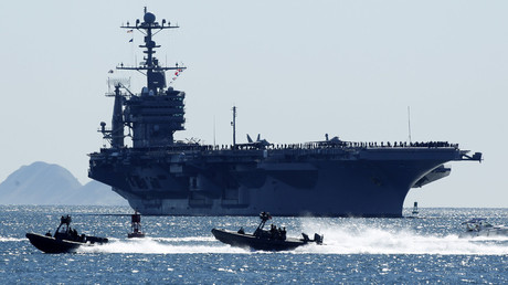 The nuclear powered aircraft carrier USS John C. Stennis. © Mike Blake