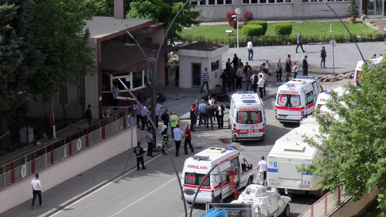 2 police officers killed as suspected ISIS car bomb strikes police HQ in Gaziantep, Turkey