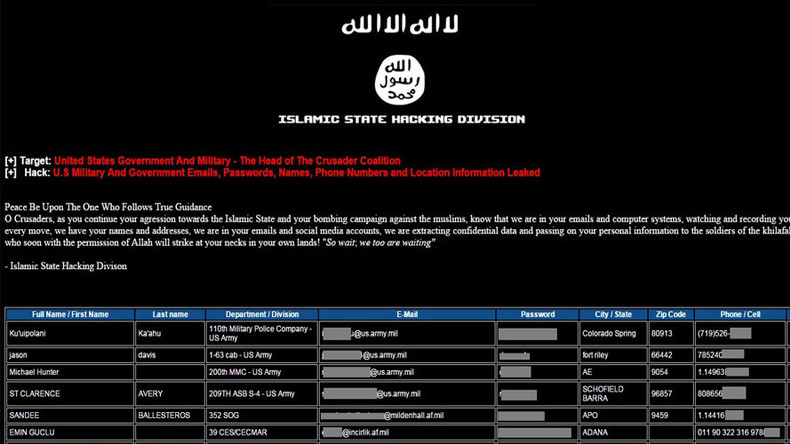 ISIS hackers claim to have 'infiltrated' Britain through defense ministry mole