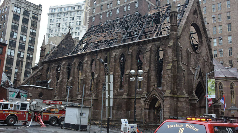 NYFD says candles, not Nazis, to blame for NYC church fire