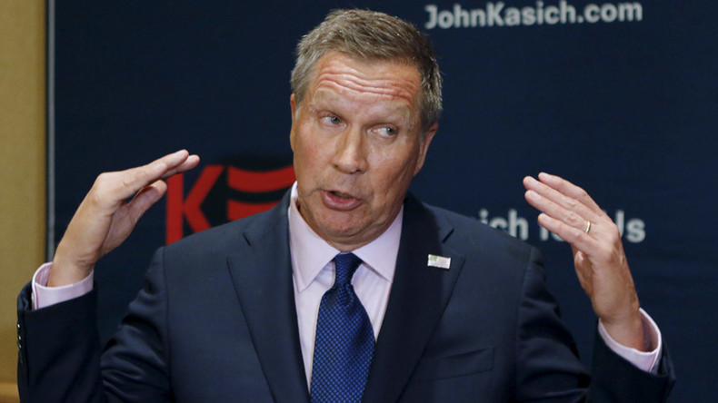 John Kasich stays in presidential race, internet scoffs