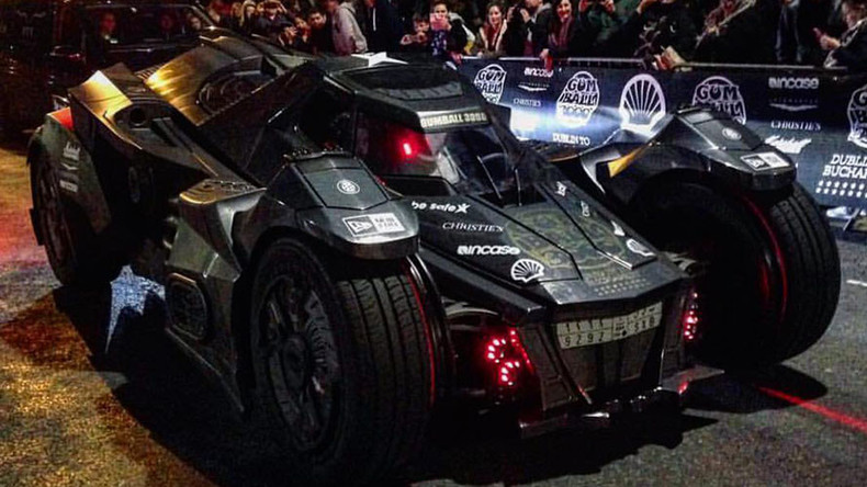 Real-life 'Arkham Knight' batmobile races through Europe this week (VIDEO, PHOTOS)