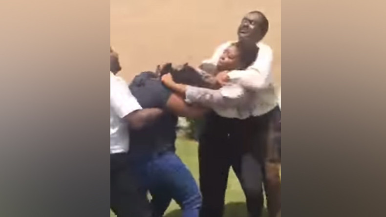 'She out!': High school staffer puts 15yo girl in chokehold, faces probe (VIDEO)