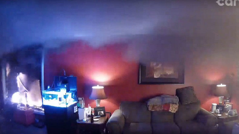 Owners watch their home devoured by Alberta inferno via live webcam (VIDEO)
