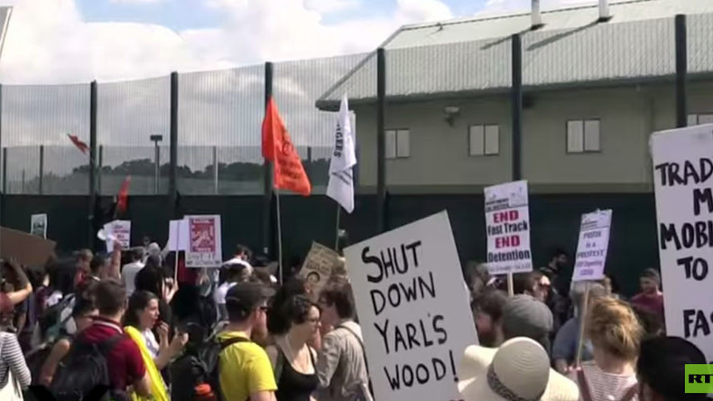 200 migrants detained by UK stage hunger strike & occupation over 'slave-like' conditions