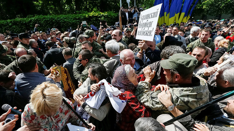 Nationalists disrupt Victory Day celebrations in Ukraine