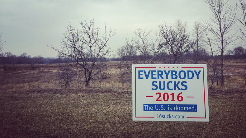 'Everybody Sucks 2016': Joke campaign sign garners national attention