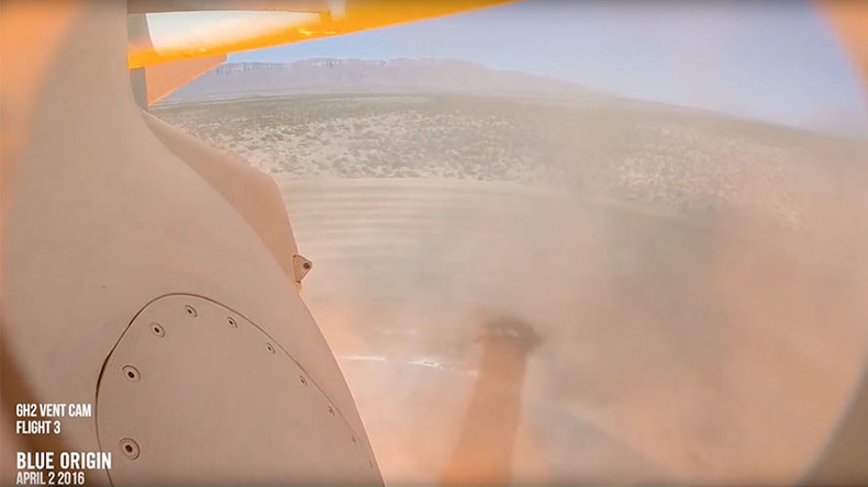 Rocket eye view: Awesome Blue Origin landing captured by onboard camera (VIDEO)