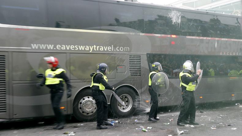 'Absolute mayhem': Man Utd team bus 'smashed up' ahead of West Ham clash (PHOTOS, VIDEOS)