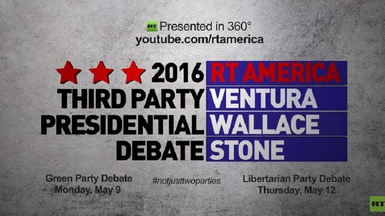 RT to host presidential debate for Libertarian Party candidates