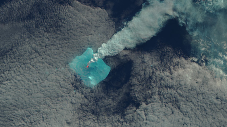 Spectacular volcano eruption after 60 years of 'silence' captured by NASA satellite (PHOTOS)