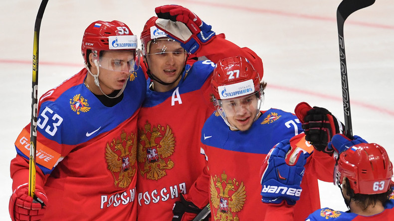 Russia hits 10 against Denmark on Hockey World Championships Day 7