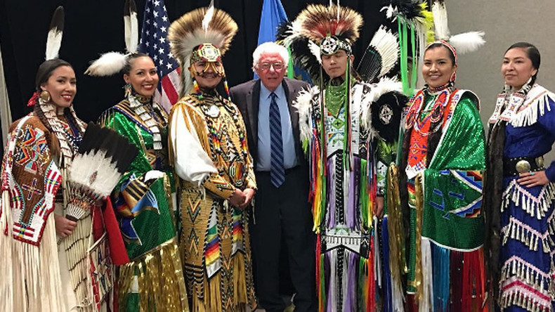 Sanders campaigns on Pine Ridge reservation, but Clinton to skip it for Texas fundraisers